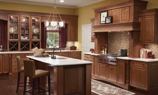 Cherry Finish Kitchen Cabinets