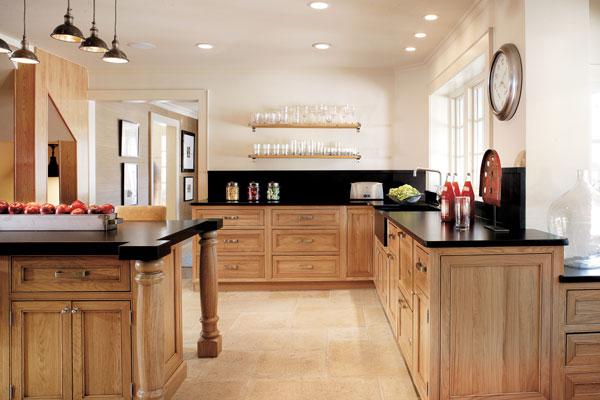 Cupboards kitchen and bath when trends attack kitchen - Cuisine en bois naturel ...