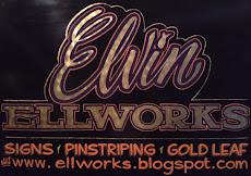 ''Elvin'' Ellworks, Pinstriping, Goldleaf, lettering.