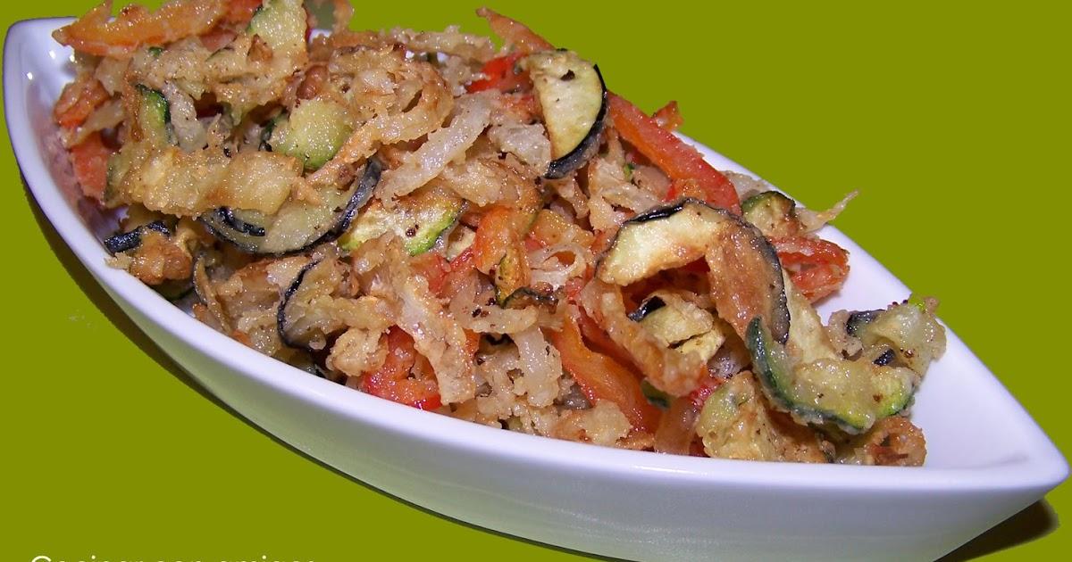 Mini tempura de verduras cocinar con amigos for Verduras francesas