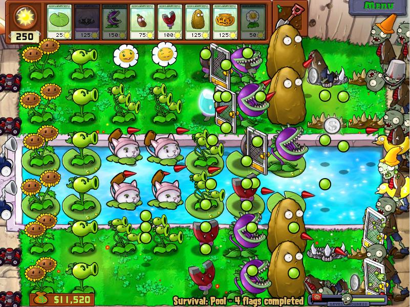 Juego De Plants Vs Zombies Completo Para Pc