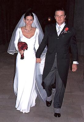 COURTENEY COX AND DAVID ARQUETTE WEDDING