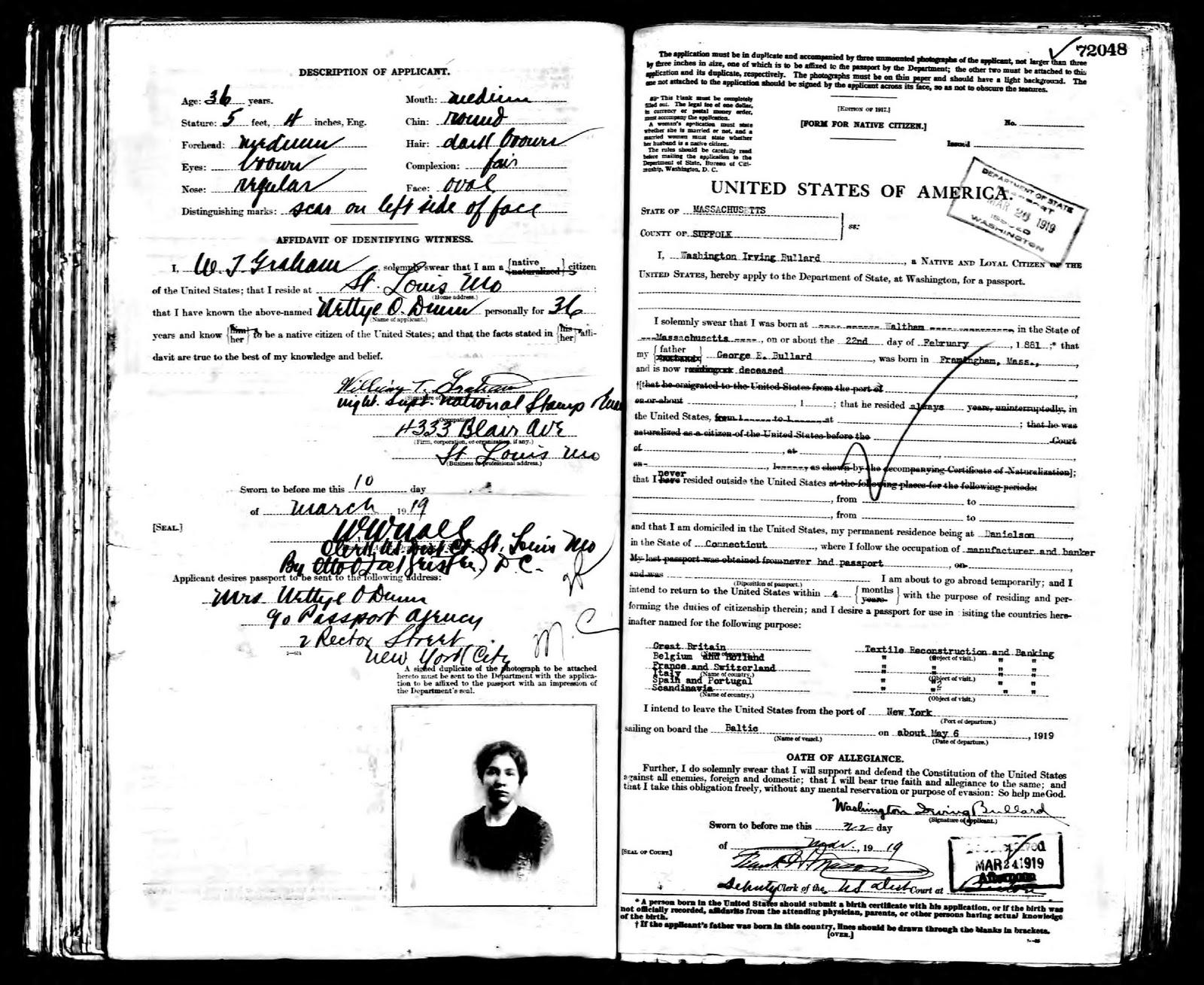ϻ�ancestry, €�passport Applications, January 2, 1906 March 31, 1925 (