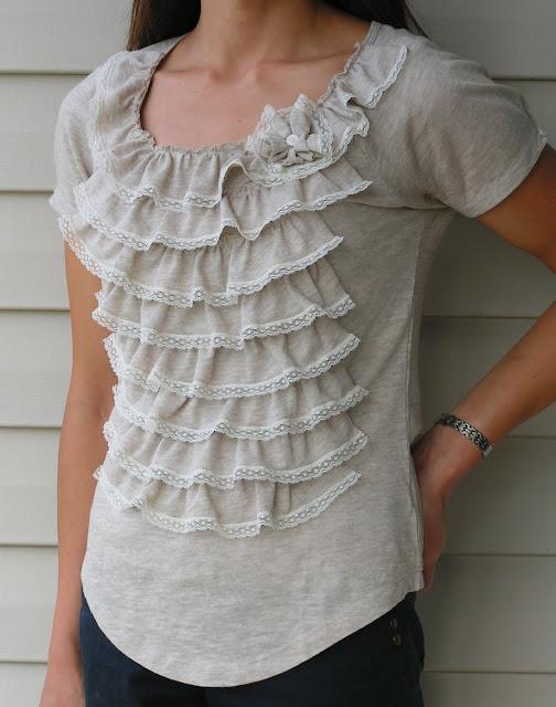 Ruffle Shirt DIY