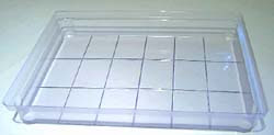 18-bar Rectangle Soap Making Slab Tray Mold
