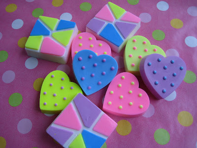 Mold Market Polka Dot Heart Soap Mold