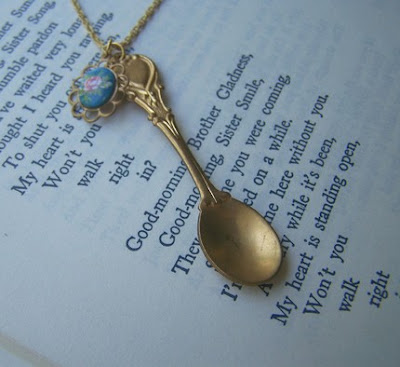 Gold Spoon Necklace from Etsy