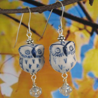 hedwig the owl earrings from etsy