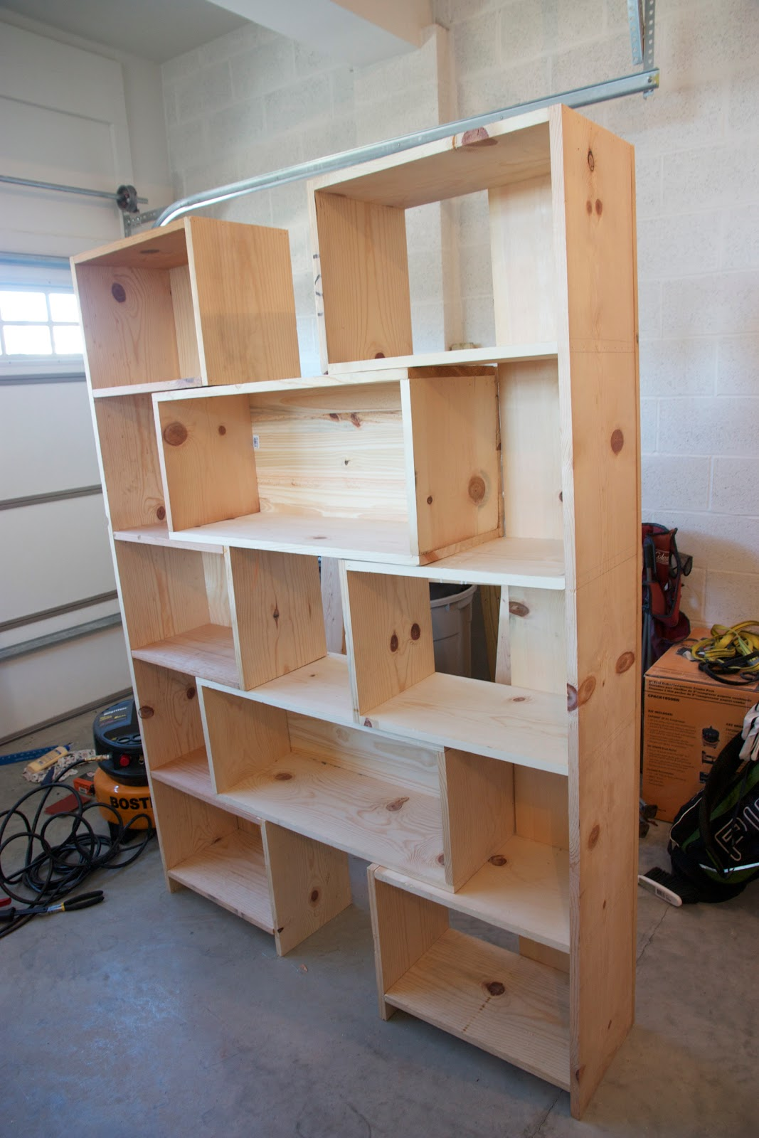 Knock-off Crate and Barrel Bookcase - Done! | Simply Weekends