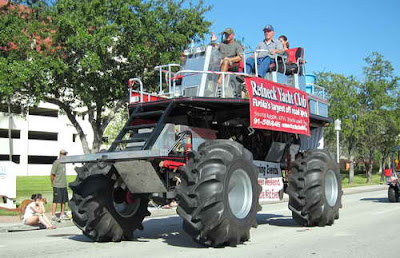 Ginourmous swamp buggies, High School bands, ROTC students, airboats, and knee- high Shriners vehicles parade down ...