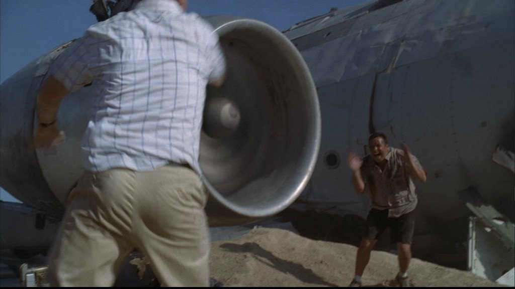 Movie sucked into jet engine