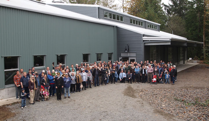 Group photo at Train Shed dedication