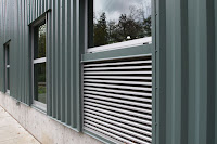steel cladding and louvers