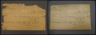 "The ""De Valera Telegram before and after conservation"""