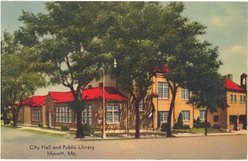 Monett City Hall and Public Library - Post Card