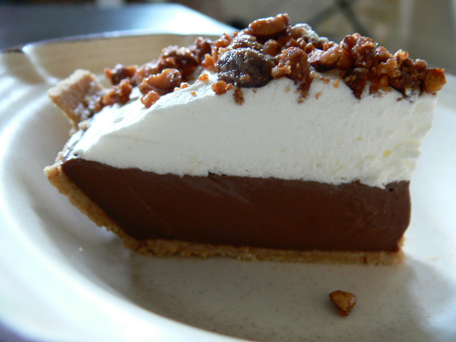 ... And Bryan Cook: Chocolate Hazelnut Pudding Pie with Candied Cashews