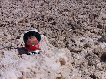 le désert de sel est composé de vagues tourmentées asséchées