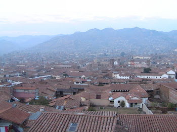 vue de ma chambre à Cuzco, on se croirait à Florence