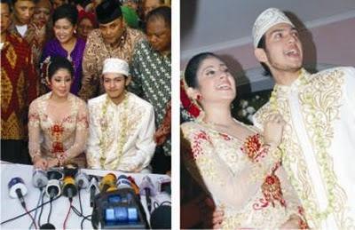 Foto Eksklusif 4 Pernikahan  Risty Tagor-Rifky Balweel