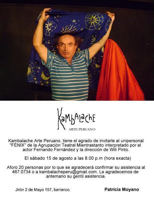 Mientrastanto presenta Fénix en Kambalache Arte Peruano