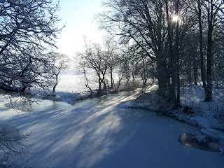 Frozen Rivers and bare trees Ochiltree Ayrshire