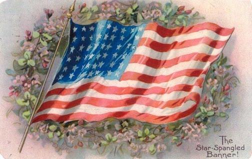 waving american flag background. waving american flag