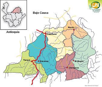 Mapa bajo Cauca