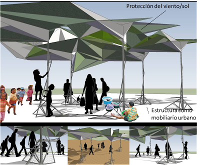 Adaptaniebla espacio publico for Mobiliario espacio publico