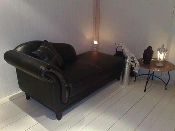 sjeselong sofa i skinn