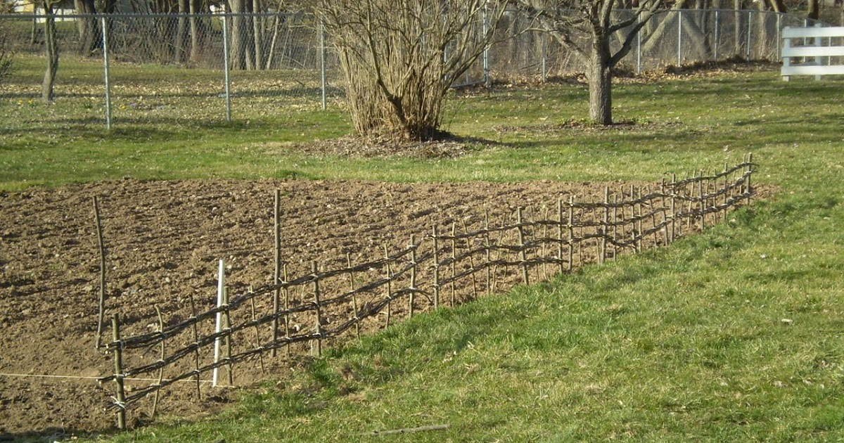 Observations How To Make A Garden Fence Out Of Sticks