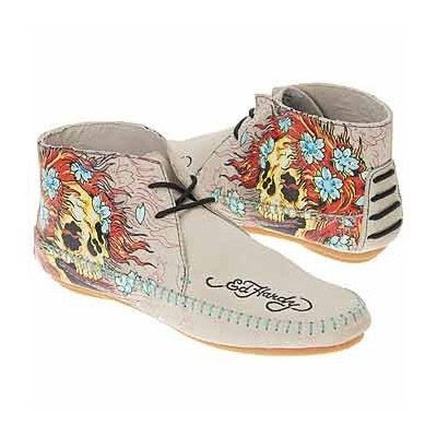 ED HARDY by Christian Audigier Wildskins Womens Moccasins Fringe Mocs Tattoo