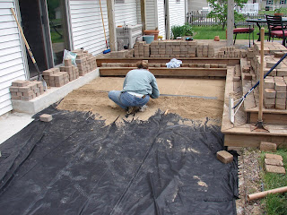 We Slowly Worked The Rods Down From One End Of The Patio To The Other To  Ensure An Even Level Of Sand. Eventually Once The Rods Were Removed, ...