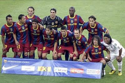 Homenaje Barcelona del a Ronaldinho
