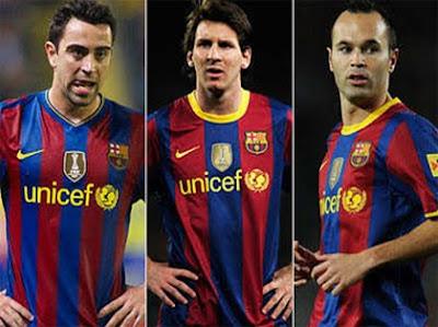 Xavi, Iniesta y Messi nominados balon de oro fiffa 2010