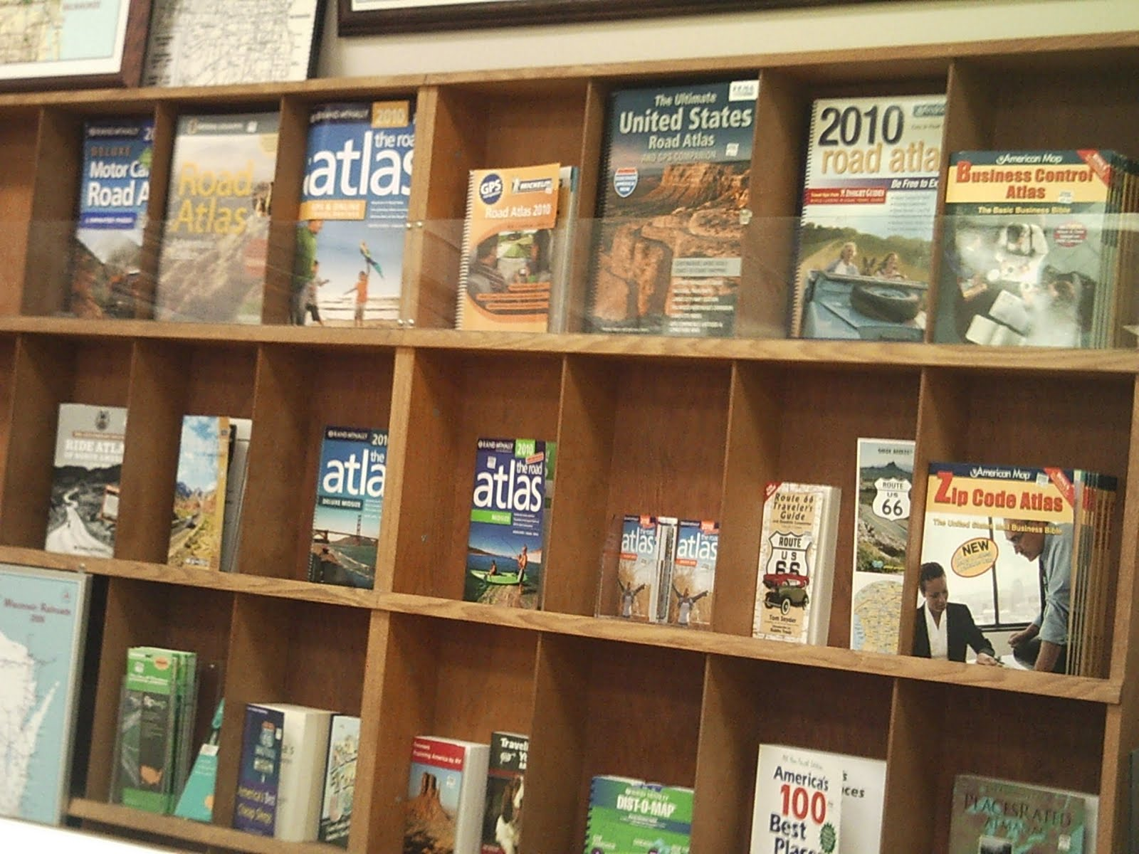 many different usa road atlases and we have maps for many cities all over the usa and canada as well as travel guides