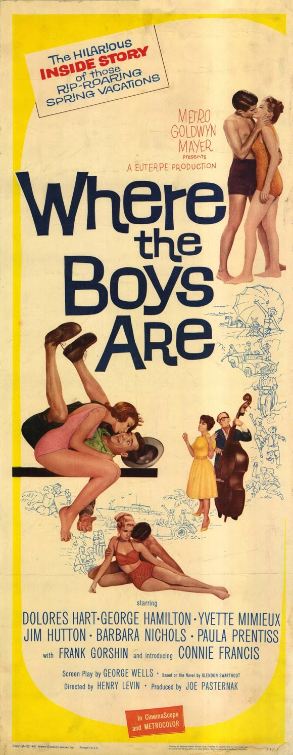 60s Movie Posters http://the60sat50.blogspot.com/2010/12/wednesday-december-28-1960-where-boys.html