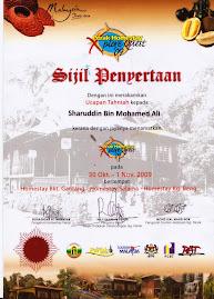Sijil Perak Homestay Explorace Quest 2009