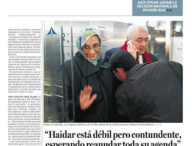 """Haidar está débil pero contundente, esperando reanudar toda su agenda"""
