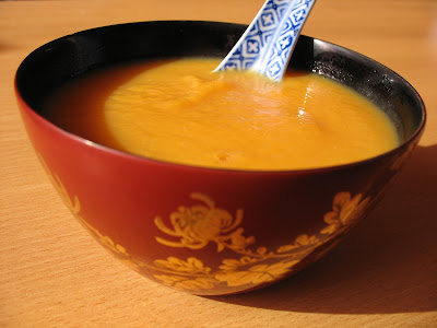 recettes  Velouté potiron et topinambour