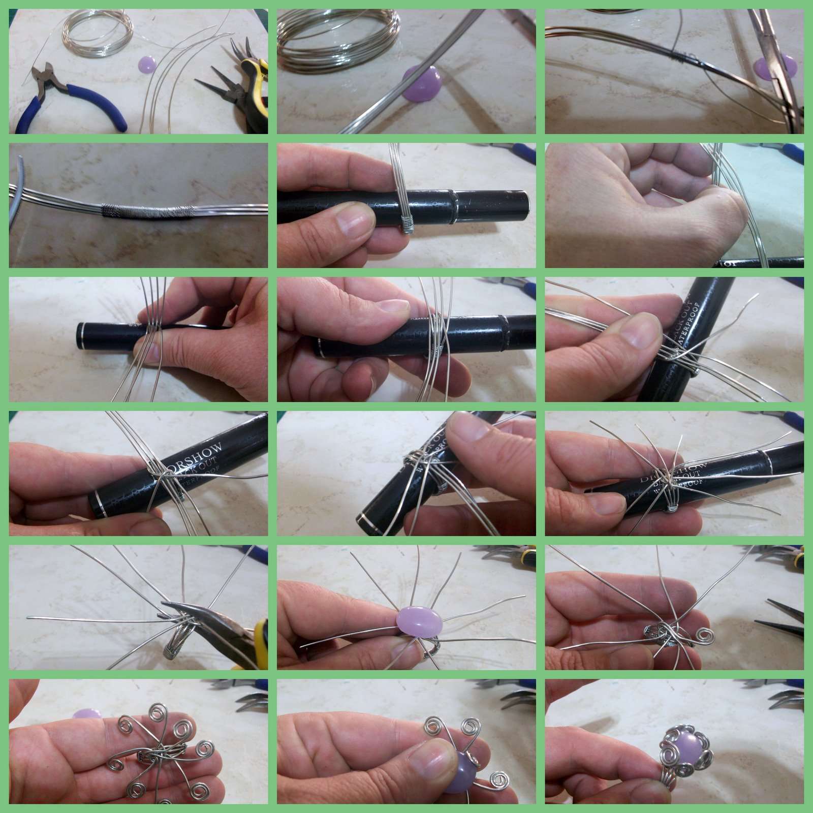 Wire Wrapped Ring Tutorial : Wire wrapping patterns pattern collections