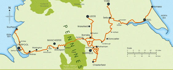 Pennines Map