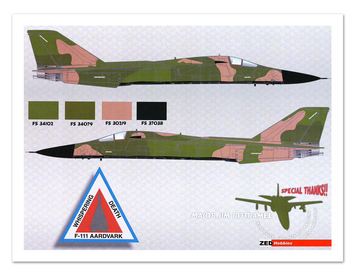 Decals come with stenciling, national insignia, squadron logo's, pilot ...