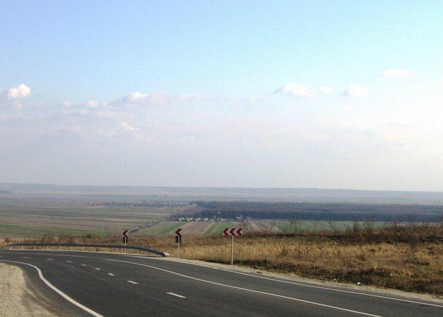 Vedere din dealul Starmina spre Vinjulet
