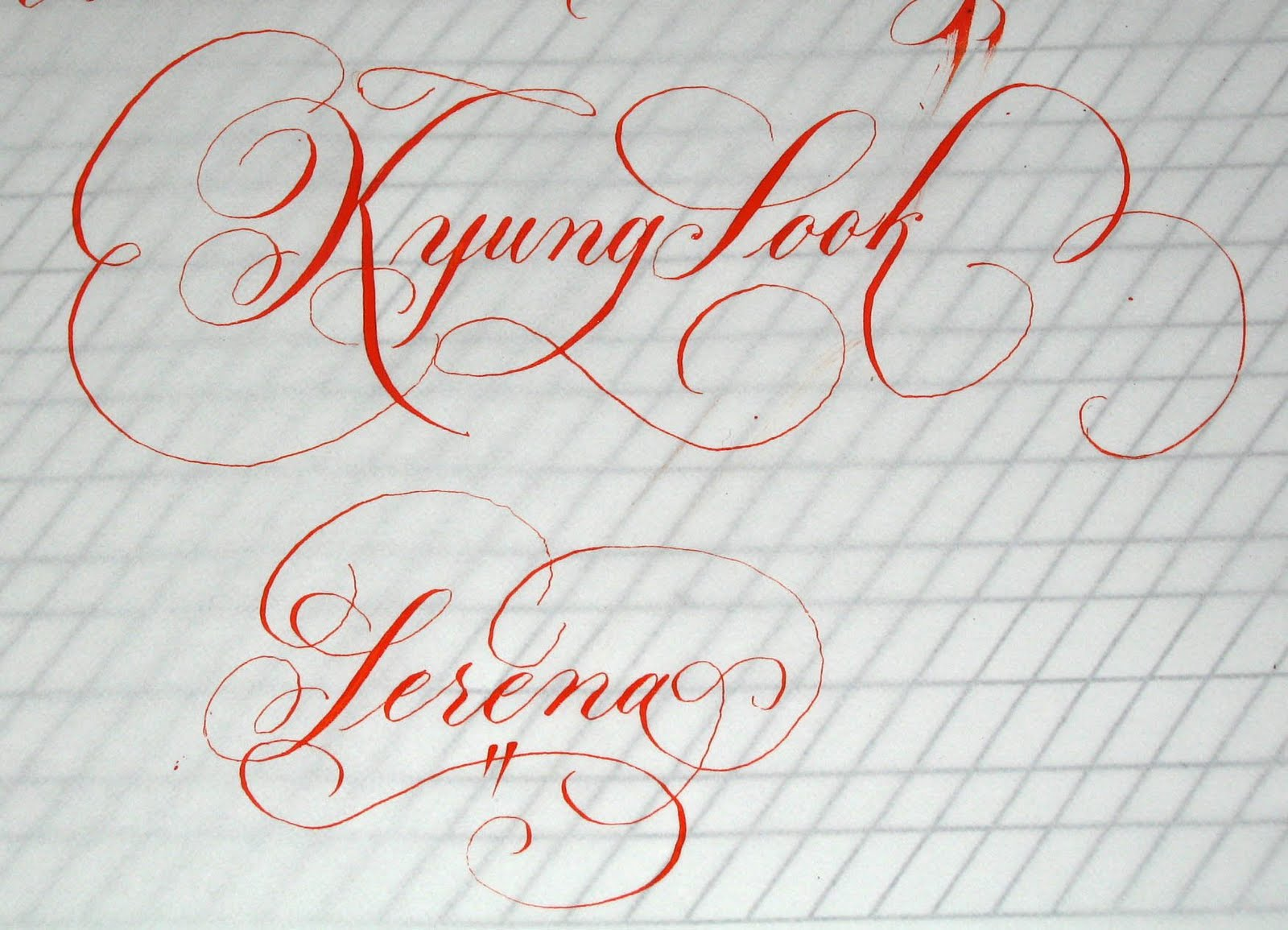 Deann Singh Calligraphy May 24 2010 Beverly Hills