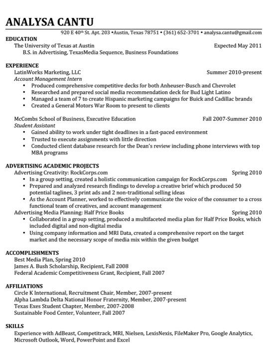 Resume blogs