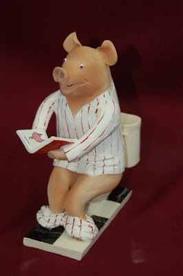 Pig on Toilet Statue