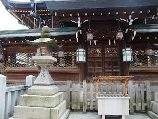 大阪天満宮の裏側
