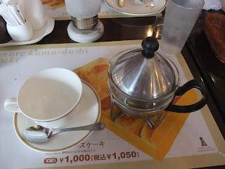 ベーカリーレストランサンマルク 高槻店のカップとティーポット