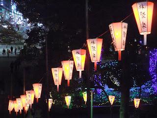 上野恩賜公園の提灯灯り