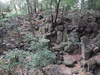 藤田邸跡公園の石組み